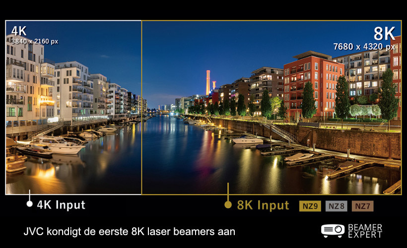 JVC kondigt de eerste 8K laser beamers aan