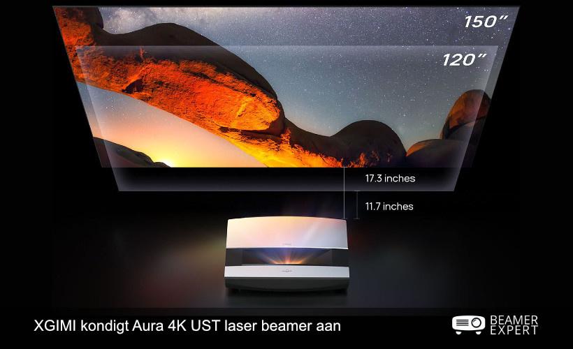 XGIMI kondigt Aura 4K UST laser beamer aan