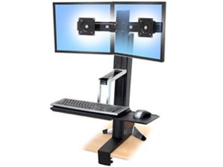 Ergotron WorkFit-S, Dual Sit-Stand Workstation