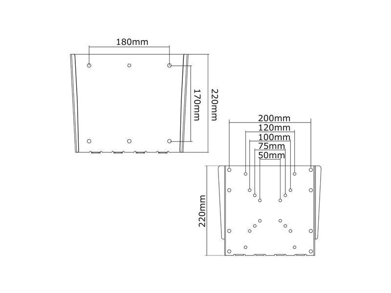 Newstar Newstar FPMA-W110 flat panel muur steun