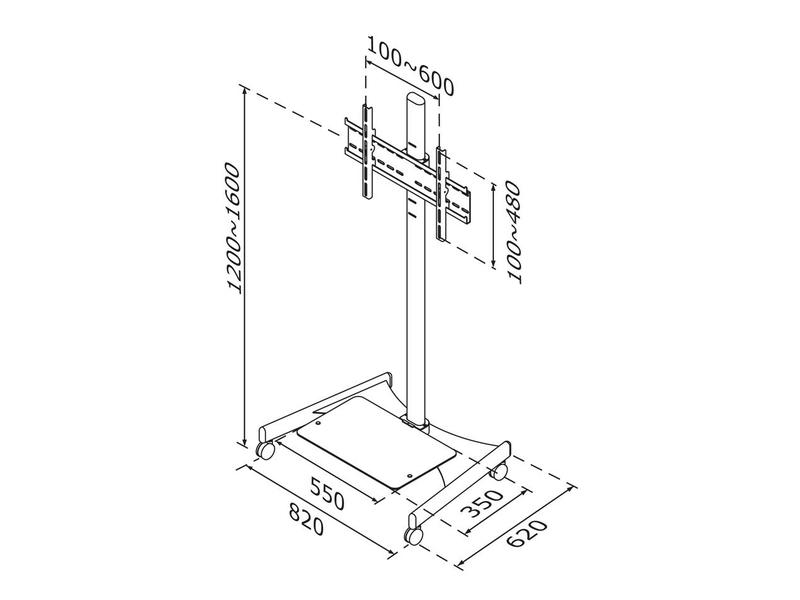 Newstar Newstar verrijdbaar LCD/Plasma/LED meubel
