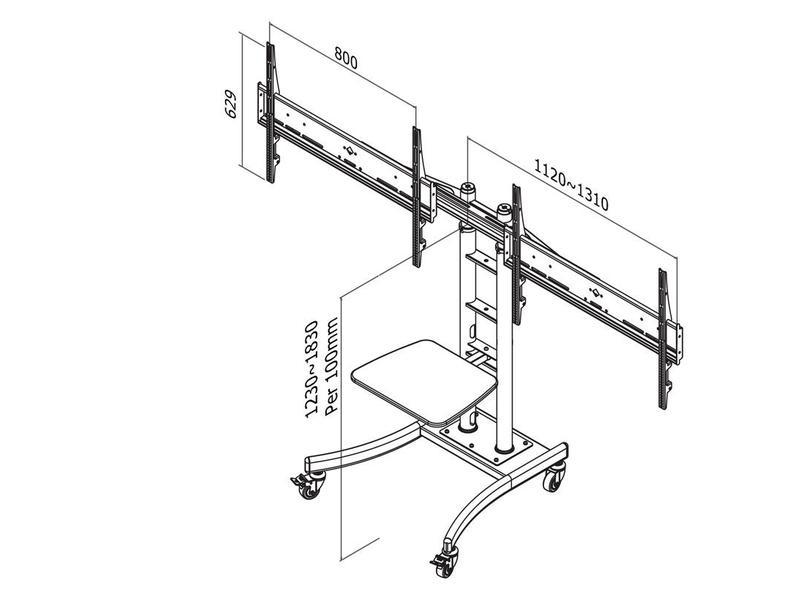 Newstar Newstar PLASMA-M2000ED flat panel vloer standaard