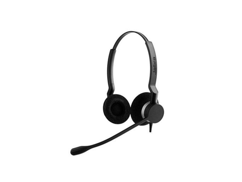 Jabra BIZ 2300 USB UC Duo Stereofonisch Hoofdband Zwart hoofdtelefoon