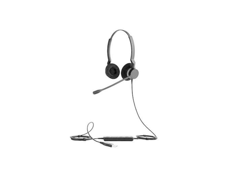 Jabra Jabra BIZ 2300 USB Microsoft Lync Duo Monauraal Hoofdband Zwart hoofdtelefoon