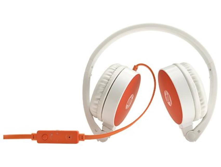 HP H2800 Stereofonisch Hoofdband Oranje, Wit hoofdtelefoon