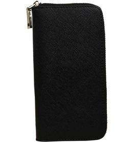 Smartphone Lederen Portemonnee Zwart