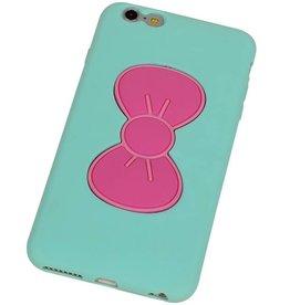 Vlinder Standing TPU Case voor iPhone 6 Groen