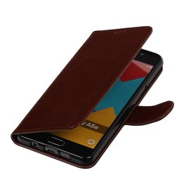 TPU Bookstyle Hoes voor Galaxy A3 (2016) A310F Bruin