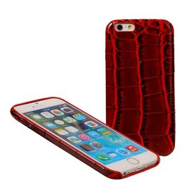 Croco TPU cover voor iPhone 6 / 6S Rood
