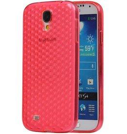 Diamant TPU Hoesjes voor Galaxy S4 i9500 Roze