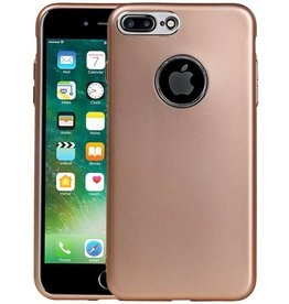 Design TPU Hoesje voor iPhone 7 Plus / 8 Plus Goud