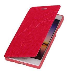 Easy TPU Booktype hoesje voor Huawei Ascend P6 Roze