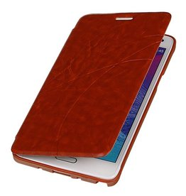 Easy Booktype hoesje voor Galaxy Note 4 N910F Bruin
