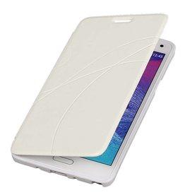 Easy Booktype hoesje voor Galaxy Note 4 N910F Wit