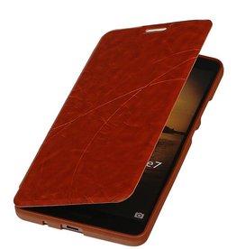 Easy Booktype hoesje voor Huawei Ascend Mate 7 Bruin