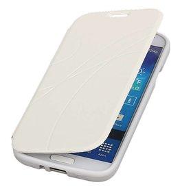 Easy Booktype hoesje voor Galaxy S4 i9500 Wit