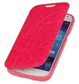 Easy Booktype hoesje voor Galaxy S4 mini i9190 Roze
