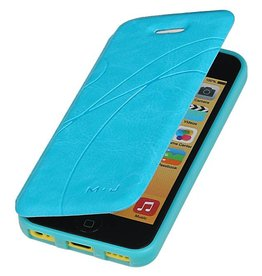 Easy Booktype hoesje voor iPhone 5 / 5S Turquoise