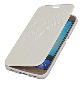 Easy Booktype hoesje voor Galaxy S6 G920F Wit