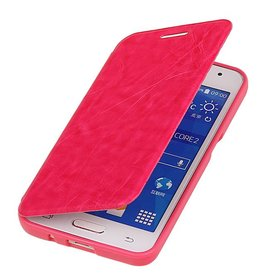 Easy Booktype hoesje voor Galaxy Core II G355H Roze