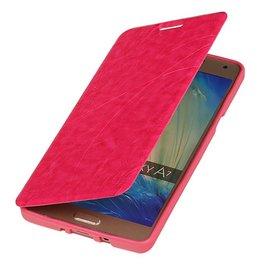 Easy Booktype hoesje voor Galaxy A7 Roze