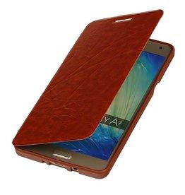 Easy Booktype hoesje voor Galaxy A7 Bruin