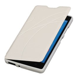 Easy Booktype hoesje voor Huawei Honor 3C Wit