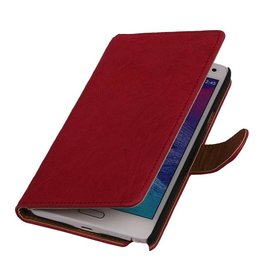 Washed Leer Bookstyle Hoesje voor Galaxy Note 2 N7100 Roze