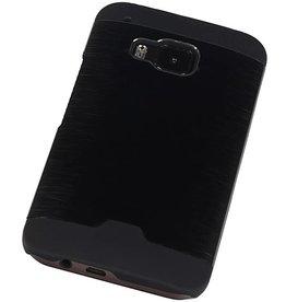 Lichte Aluminium Hardcase voor HTC One M9 Zwart