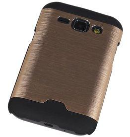 Lichte Aluminium Hardcase voor Galaxy J1 Goud