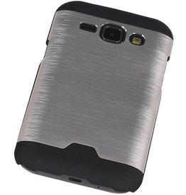 Lichte Aluminium Hardcase voor Galaxy J1 Zilver
