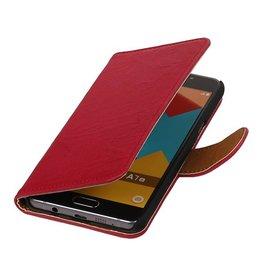 Washed Leer Bookstyle Hoesje voor Galaxy E7 Roze