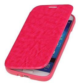 Easy Booktype hoesje voor Galaxy S5 mini G800F Roze