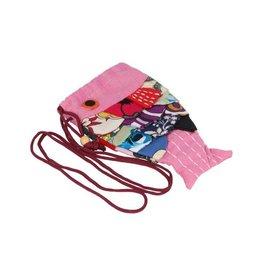 Vis pouch handtas schoudertas Roze