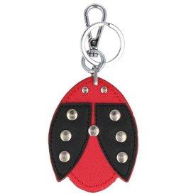 Trendy tas sleutelhanger met een Lieveheersbeestje Rood
