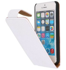Devil Classic Flip Case Hoes voor iPhone 5 Wit