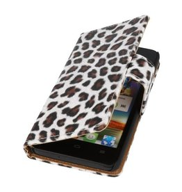 Luipaard Bookstyle Case Hoes voor Huawei Ascend G525 Bruin