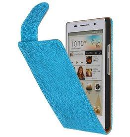 Devil Classic Flip Hoes voor Huawei Ascend P6 Turquoise