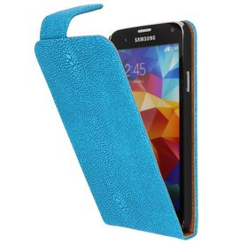 Devil Classic Flipcase Hoes voor Galaxy S5 G900F Turquoise