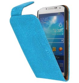 Devil Classic Flip Hoes voor Galaxy S4 i9500 Turquoise