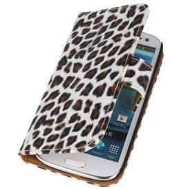 Luipaard Bookstyle Hoesje voor Galaxy S3 i9300 Bruin