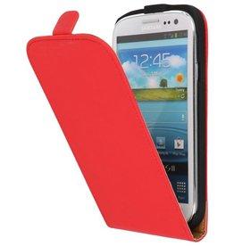Flip Hoesje voor Galaxy S3 i9300 Rood