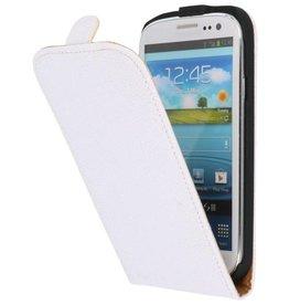 Devil Flip Hoesje voor Galaxy S3 i9300 Wit
