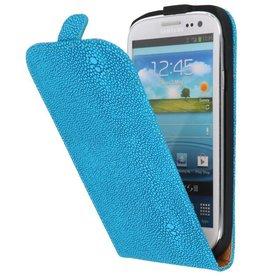 Devil Flip Hoesje voor Galaxy S3 i9300 Turquoise