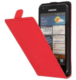Flipcase Hoes voor Galaxy S2 i9100 Rood