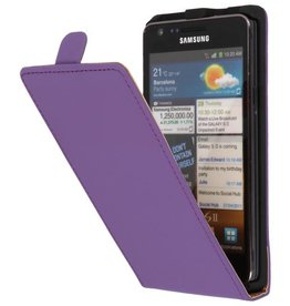 Flipcase Hoes voor Galaxy S2 i9100 Paars