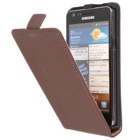 Flipcase Hoes voor Galaxy S2 i9100 Bruin