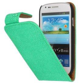 Devil Classic Flip Hoes voor Galaxy S3 mini i8190 Groen