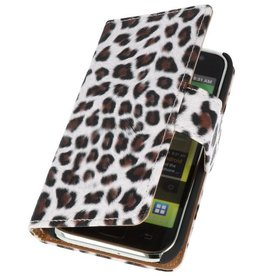 Luipaard Bookstyle Hoes voor Galaxy S i9000 Bruin