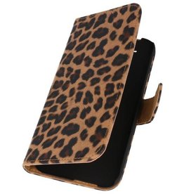 Luipaard Bookstyle Hoes voor HTC One M8 Chita